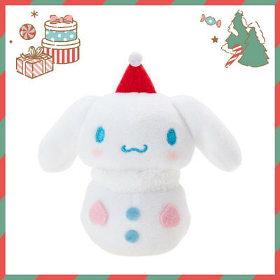 Cinnamoroll Sanrio Mascot Doll riding on hands  (Winter) kawaii Japan New F/S