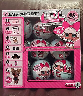 LOL Lil Outrageous Littles Surprise Dolls SERIES 1 - Lot of 18 with Display Box