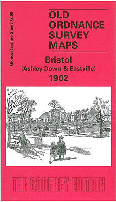Old Ordnance Survey Map Bristol Ashley Down Eastville 1902 Stapleton Greenbank