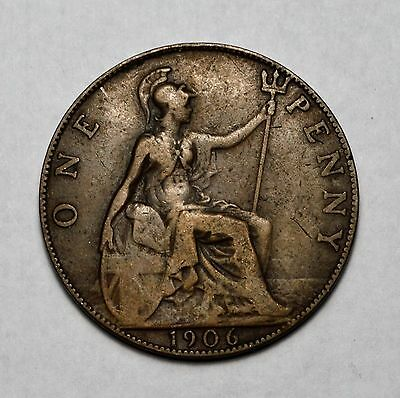 Great Britain (UK) 1906 One Penny Coin....................................V62813