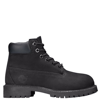 "Timberland Juniors' 6"" Premium Boots (GS) NEW AUTHENTIC Black 12907 MEDIUM WIDTH"