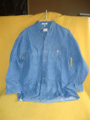 Men's Long-sleeved VanHeusen Denim Shirt with Mouse / Rat Detailing from Petrats