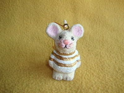 Unique Sand Sculpture Design Mouse Christmas Ornament from Petrats