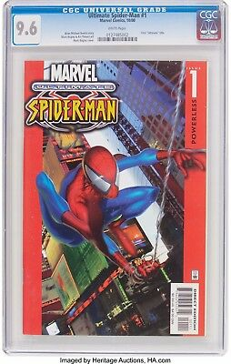 """Ultimate Spider-Man 1 - Cgc Nm+ 9.6 - White Pages - 1St """"ultimate"""" Title (2000)"""