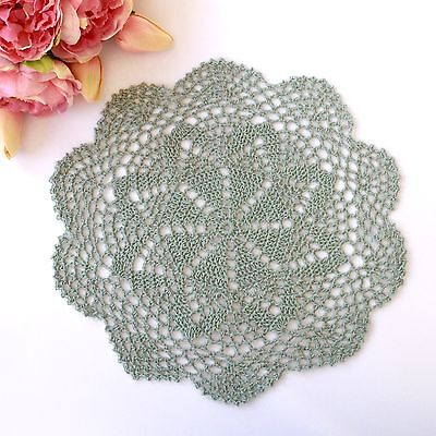 Crochet doily in Green 28 cm for millinery , hair and crafts