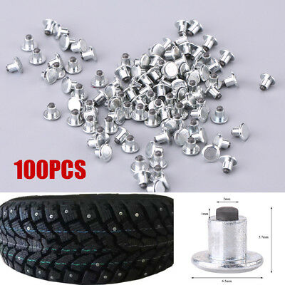 100pcs Wheel Tyre Anti-slip Stud Screws Snow Tire Spikes for Bike Car ATV Shoes