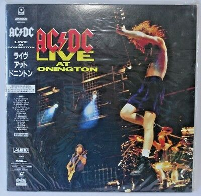 = Laser Disc = Ac/dc Live At Donington = Japan = Like New = Never Watched = Ntsc