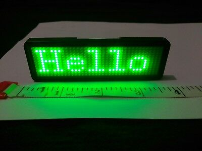 Smart Bluetooth LED Scrolling Badge, Create your own messages, up to 8 sentences