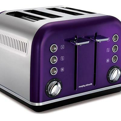 NEW Morphy Richards Accents 4 Slice Toaster Plum 242022 FAST SHIPPING