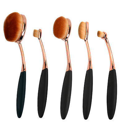 5Pcs Tooth Brush Shape Oval Makeup Brushes Sets Multipurpose Cosmetic Tool Kits