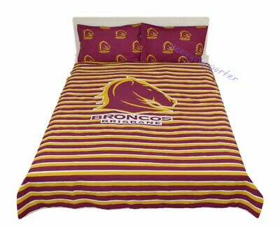 Brisbane Broncos Quilt Cover Set Single Double Queen Sizes Doona Duvet BNWT