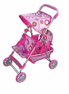 pink double stroller for baby doll great gift for any occasion item # M 1308