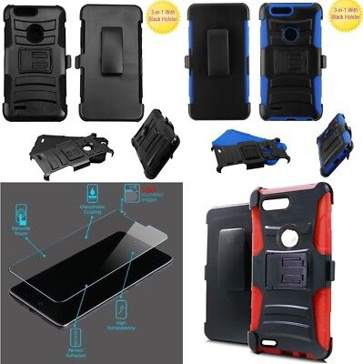 NP GLASS Screen + Holster Case For ZTE Sequoia / Blade Z Max / Zmax Pro 2 /Z982