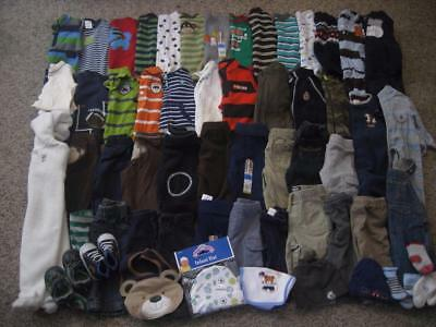 Baby Boy Clothes 0-3  3-6 Months Fall /winter Clothes Outfit Lot 62 pieces.