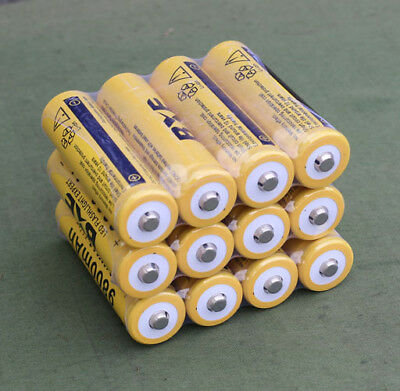 12pcs 9800mAh 3.7V 18650 High Capacity Li-ion Rechargeable Battery For Torch KK