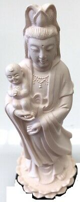 Quan Yin Goddess of Mercy & Compassion Figurine Ivory 200mm