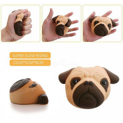 Squishy Dog Face Bread Super Soft Slow Rising Gift Phone Strap Cream Scented Toy