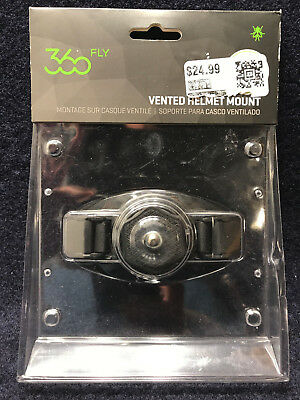 "360fly 4K Camera 1/4"" 20  Vented Helmet Mount FLYVHMA01BEN - Ships Today"