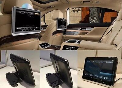 """Car Rear seat Entertainment 10.1"""" DVD+Android 6 ✨Gloss Black And Gloss Silver ✨"""