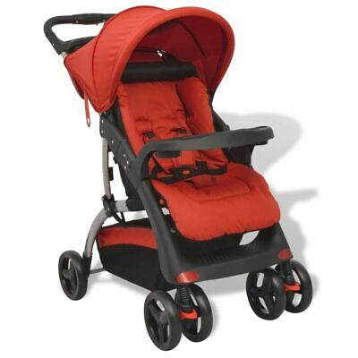 vidaXL Buggy Red 102x52x100cm Baby Toddler Travel Pram Pushchair Stroller