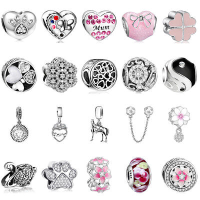 European Style 925 Sterling New Silver Charms Bead for Bracelet Chain Nekclace