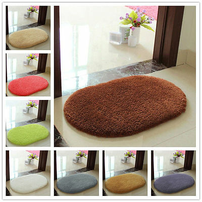 Absorbent Soft Bathroom Bedroom Floor Non-slip Mat Memory Foam Bath Shower Rug J