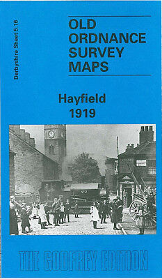 Old Ordnance Survey Map Hayfield 1919 Birch Quarry Bowden Bridge Ollersett
