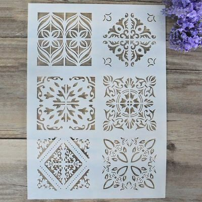 New Plastic Layering Stencils For DIY Scrapbooking Painting Template Paper Cards