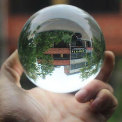 UK Magic Clear Crystal Ball Sphere Glass Decorative Balls Photo Props 40-120mm