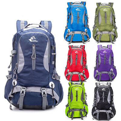 Mens Womens 40L Hiking Camping Backpack Travel Outdoor Sport Rucksack Day Pack