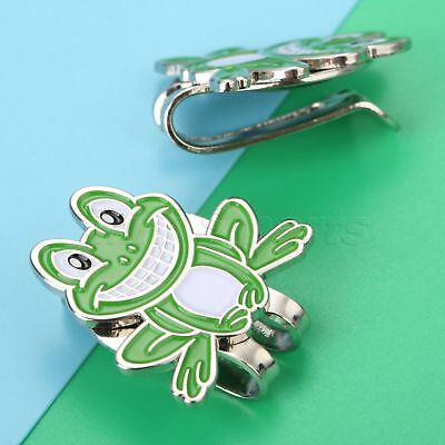 Alloy Frog Pattern Design Magnetic Hat Clip With Golf Ball Marker Outdoor Game