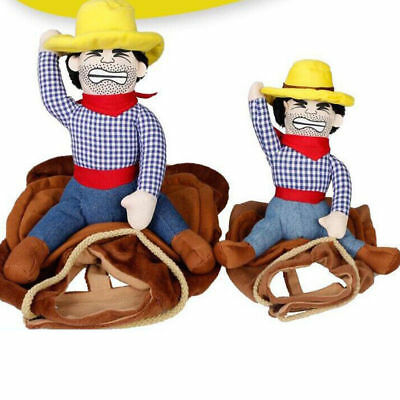 Riding Horse Cowboy Pet Dog Costume Puppy Harnes Christmas Party Cosplay Clothes