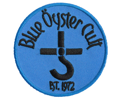 """Blue Oyster Cult Iron On Sew On Shirt Applique Badge Patch 3"""""""