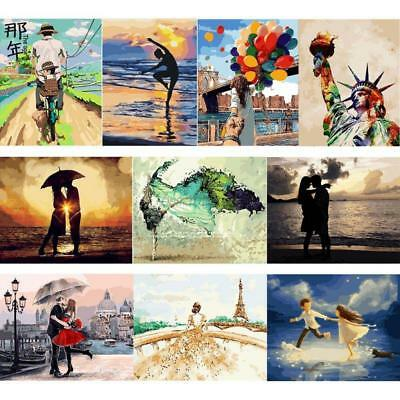 50x40cm Acrylic Paint By Number Kit DIY Oil Painting Canvas Digital Home Decor