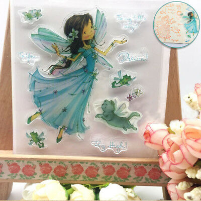 Cards Clear Sheet Wings Girl Scrapbooking Transparent Stamps Silicone Rubber