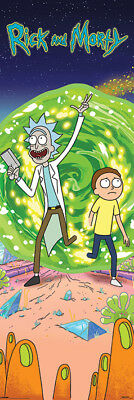Rick And Morty Portal 53 X 158 Cm Door Poster New Official Merchandise