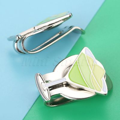 Stylish Green Wine Glass Alloy Magnetic Hat Clip With Golf Ball Marker Outdoor