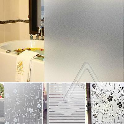 2Mx45CM Window Door Privacy Film Room Bathroom Home Glass Sticker PVC Frosted