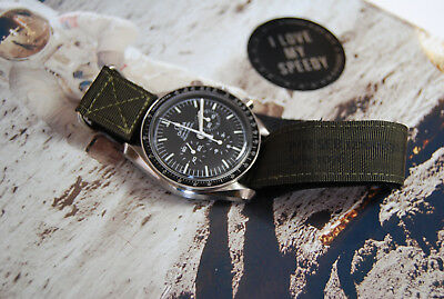 Replica of NASA strap for Omega Speedmaster Moonwatch with VELCRO® brandfastener