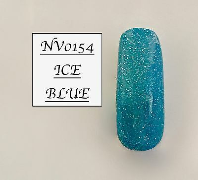 Ice Blue Glittered Acrylic Powder 10G Bag Please See Description