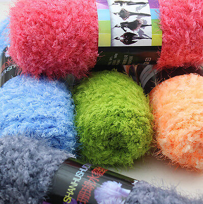 Lot 100g yarn Chunky Skin Fluffy Coral cashmere mink Knitting Crochet soft yarn