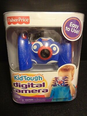 Fisher Price Kid Tough Digital Camera Blue Comes With Built In Auto Flash(NEW)
