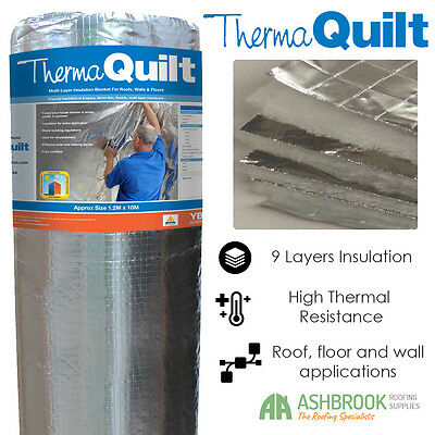 YBS ThermaQuilt Multi Foil Insulation | 2, 4, 6, 8, 10m Lengths | 1.2m Width