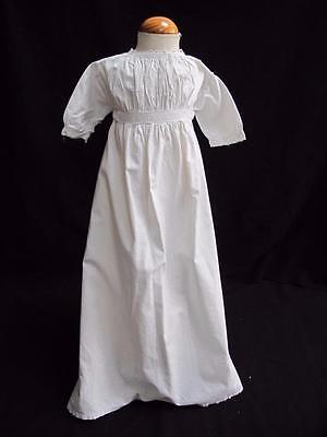 ANTIQUE VICTORIAN EMBROIDERED WHITEWORK BABY'S NIGHTGOWN GOWN c1890