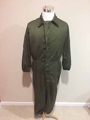 Vintage US Army Issued Flight Pilot Jumpsuit Overalls Sz Small