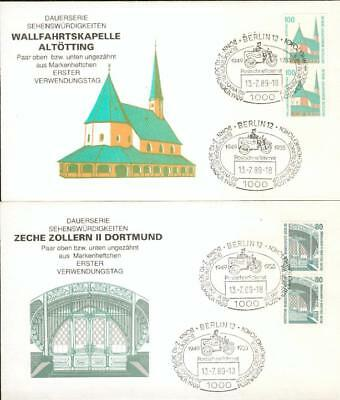 Berlin 5 special FDC with pairs from booklet 1989 cy89