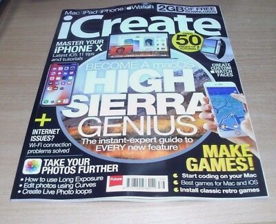 iCreate magazine #179 2017 Master iPhone X, Long Exposure Photos, Retro Games &