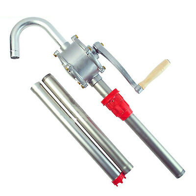 55 Self Priming Rotary Hand Oil Pump Fuel Barrel Drum Syphon Transfer Tool