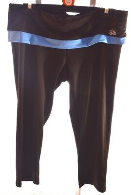 fe3fc5e3b764a Tom Franks Ladies Black Blue Stretchy Yoga Fitness Crop Trousers Size S L  (A56)