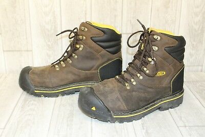 Keen Utility Milwaukee Soft Toe Lace-up Boot - Men's Size 11 D, Brown/Yellow